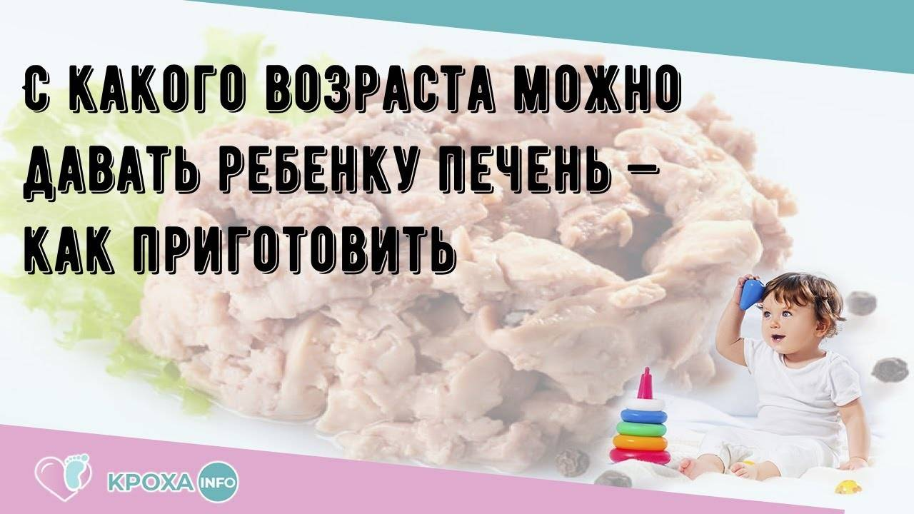 С какого возраста можно давать ребенку печень (куриную, говяжью, свиную), со скольки месяцев? - мытищинская городская детская поликлиника №4