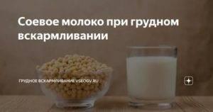 Полезно ли при грудном вскармливании соевое молоко?