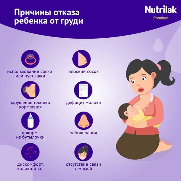 Ребенок отказывается от грудного молока и плачет: что делать