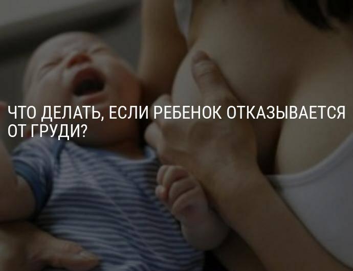 Ребенок отказался от груди. что делать?
