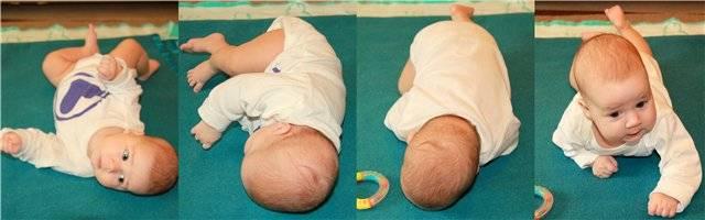 Во сколько месяцев ребенок должен сам переворачиваться