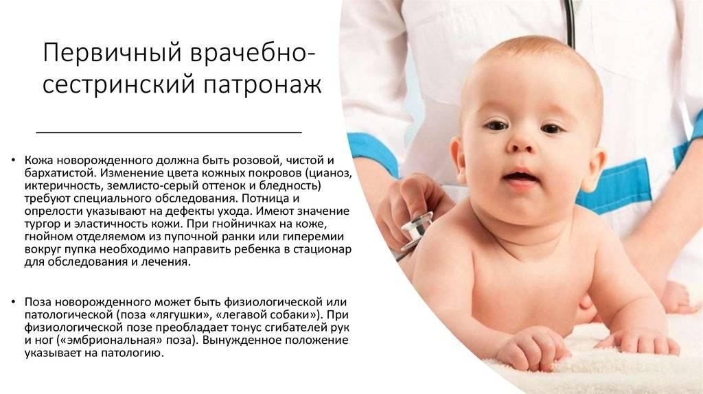 Первичный патронаж новорожденного - сибирский медицинский портал