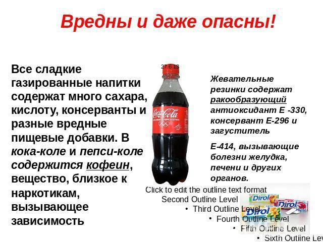 Чем вредны кока-кола и все газированные напитки для здоровья
