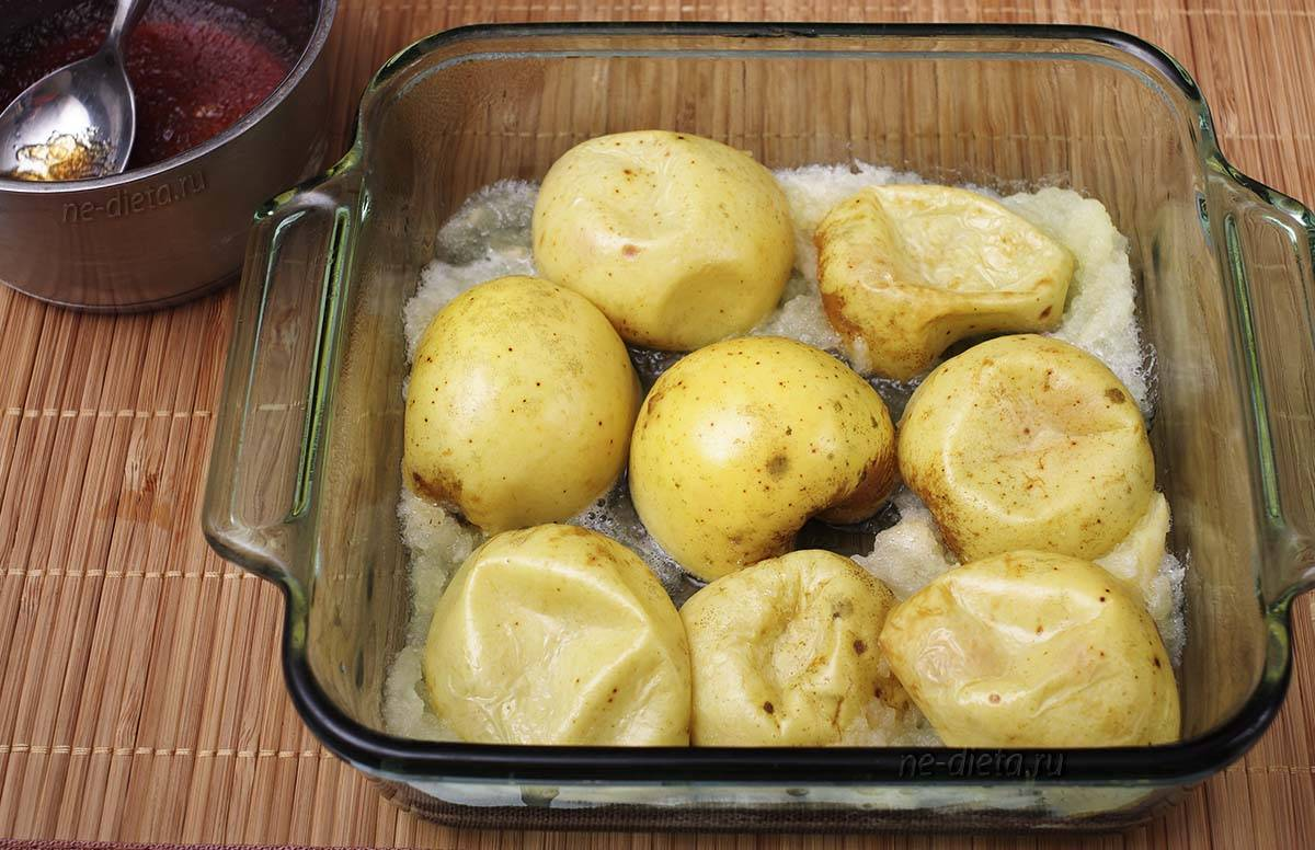 Яблоки запечённые в духовке, быстро и вкусно