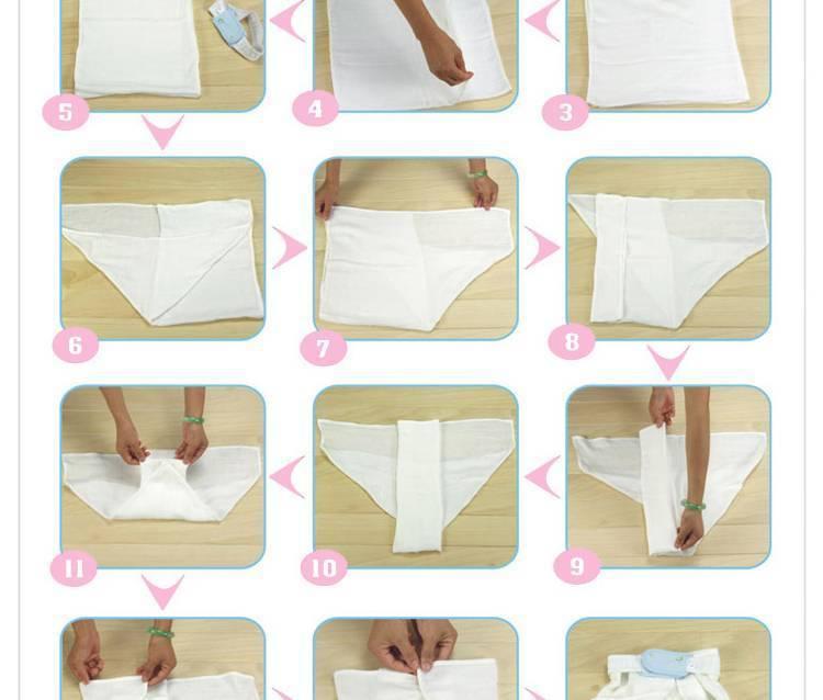 Как сделать марлевые подгузники своими руками