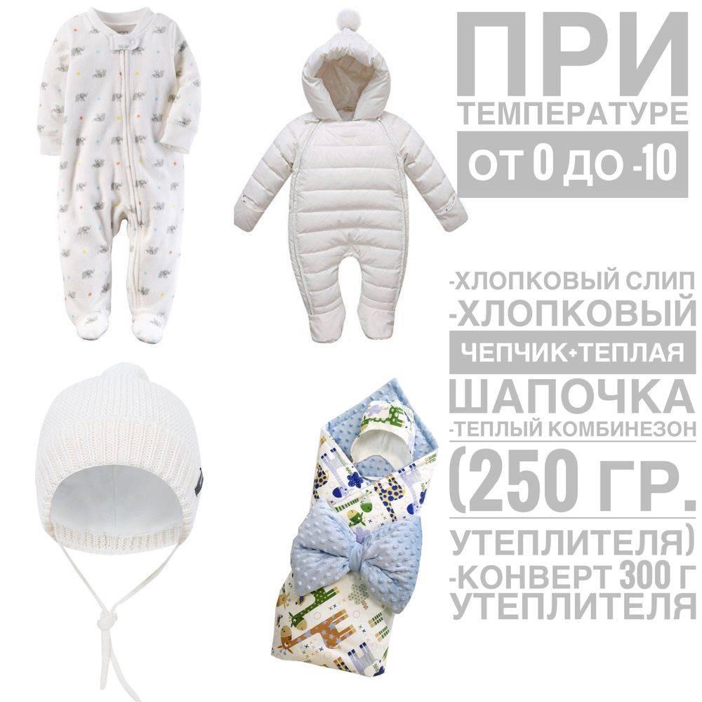 Во что одевать новорожденного весной