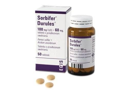 Сорбифер дурулес таблетки, 50 шт, в пленочной оболочке