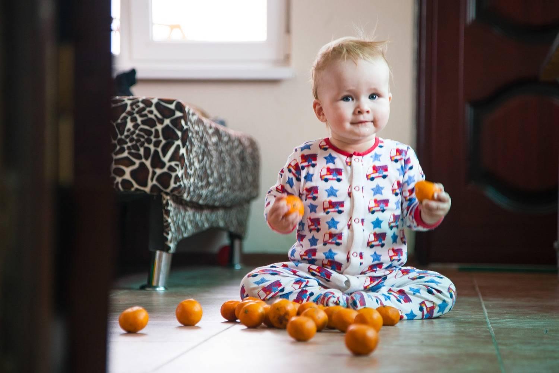 Скакого возраста без боязни можно давать мандарины ребенку