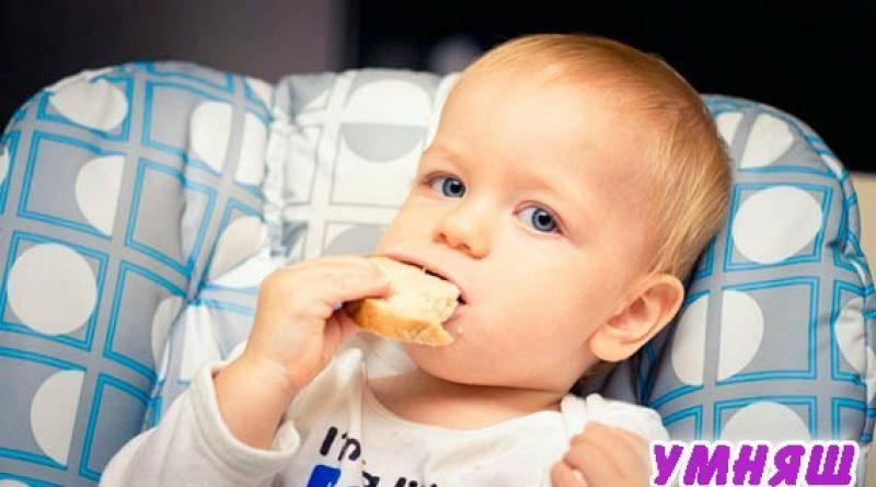 Когда ребенку можно давать хлеб и какой