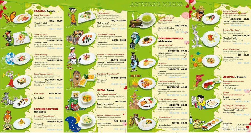 Детское меню на каждый день для ребенка от 2 до 7 лет и рецепты блюд