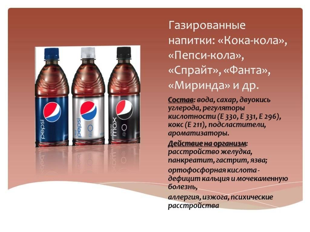 Вред Кока-Колы и Пепси для детей