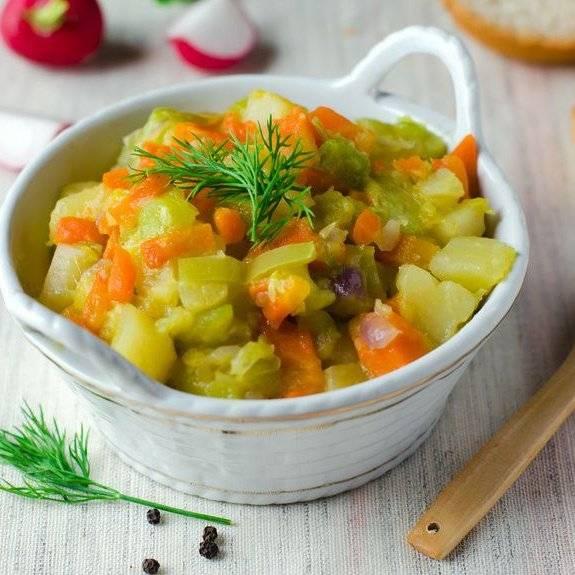Овощное рагу для кормящей мамы, рецепт