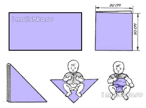 Марлевые подгузники своими руками, как сделать и применять