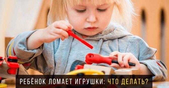Ребенок ломает игрушки: причины и способы борьбы