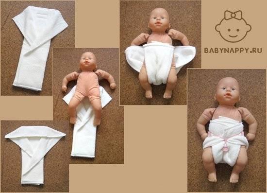 Как сшить из марли многоразовый подгузник для новорожденных?