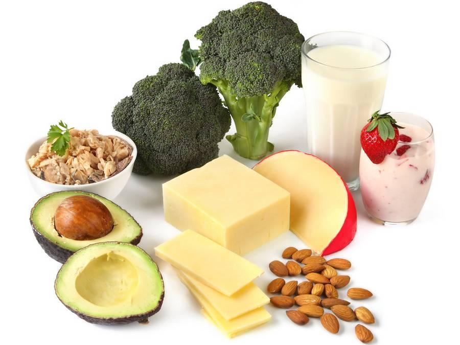 В каких продуктах содержится кальций (таблица)