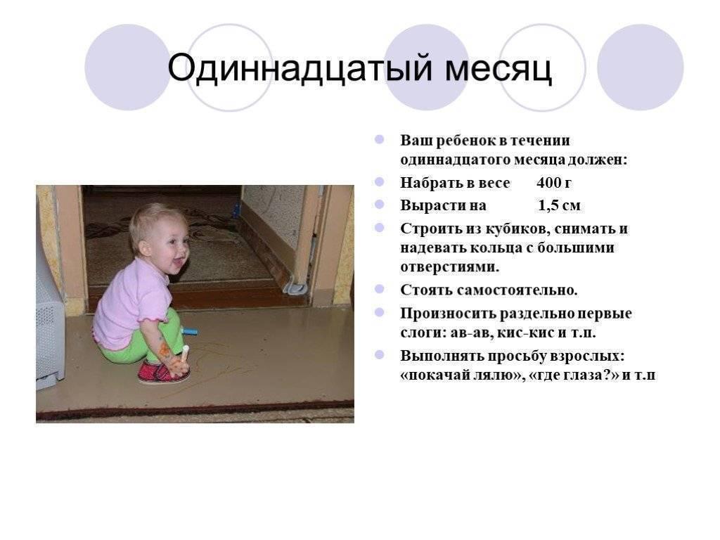 Ребенок в 9 месяцев / календарь развития ребенка